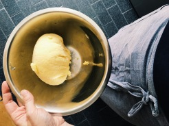 Making butter from unpasturized cream