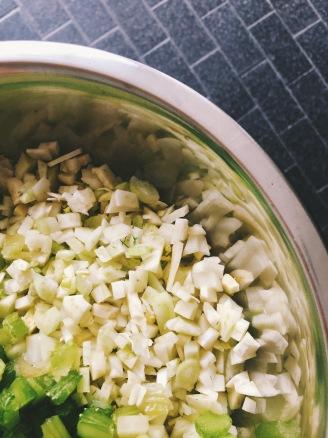 fennel & celery brunoise